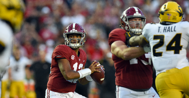 Alabama starts quick, rolls to win over Missouri
