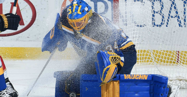 Allen carries Blues to 3-0 series lead over Wild