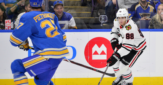 Blackhawks top Blues 5-4 in overtime