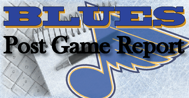 Game Report: Blues 4, Avalanche 3