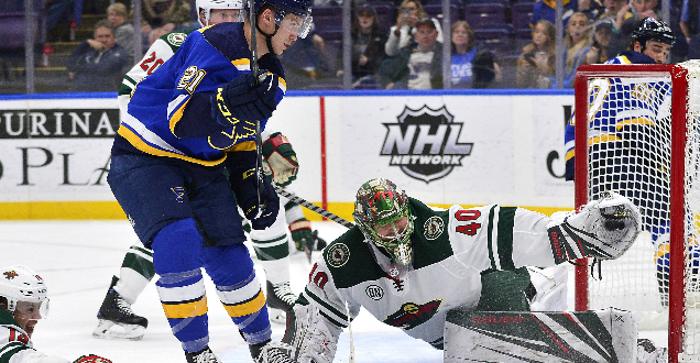 Blues turn winnable game into 3-2 loss to Wild