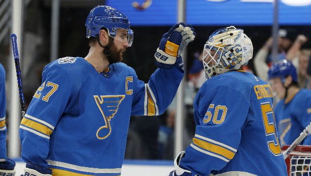 Late goal costs Blues crucial point in playoff bid