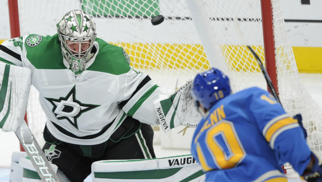 Blues blow late lead but recover for overtime win